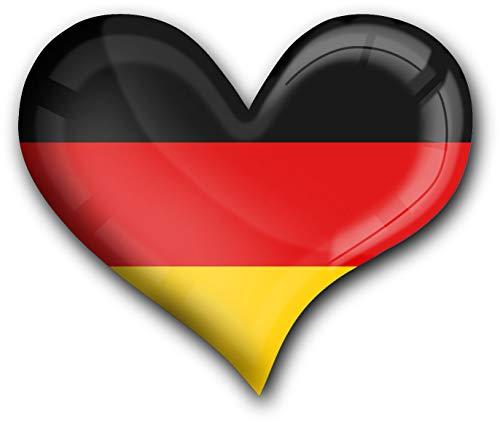 metALUm starker Magnet Herz Flagge Deutschland #1311009 - Deutschland Magnet Kühlschrank