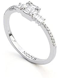 b755c0f61a62 NICOLS 14710350011 - Anillo DIAMOND CLASSIC NICOL´S. Cuadrado central en engaste  invisible.