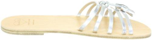 Swedish Hasbeens Tassel Sandal Flat 006 Damen Sandalen/Fashion-Sandalen Silber (Silver)
