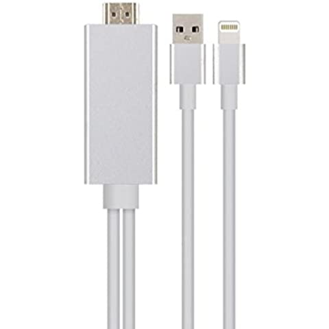 kingmas® 1,6 M adaptador Lightning Cable MHL a HDMI 1080P HDTV para iPad, iPhone 5, 5S 6 6S