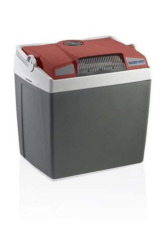 Mobicool G26 AC/DC Thermo-Electric Cool Box, Grey/ Dark Red, 12/230 V, 25 L [Energy Class A+++]