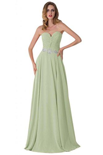 Sunvary Empire vita in Chiffon, con motivo floreale e brillantini, per damigella d'onore, per abiti da sera Gowns Fuchsia