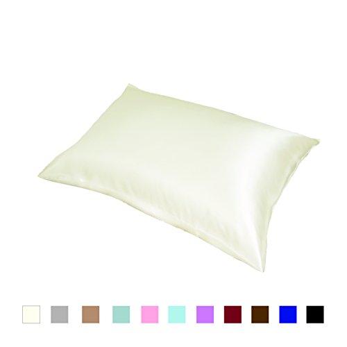 Foto de 100% Silk Pillowcase Funda de almohada de seda, de 50x75 cm marfil
