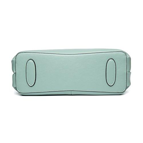 BOSTANTEN Vera Pelle Borsa Donna Sacchetta Tote a Spalla Manico Shoulderbag Top-Handle verde