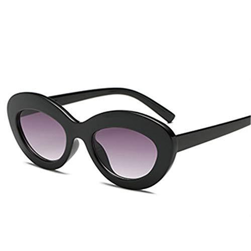ZHAS High-End-Brille Ovale Sonnenbrille Frauen Vintage-Brille Runde Sonnenbrille Weibliche Ocean Lenses Eyewear Uv400 Personalisierte High-End-Sonnenbrille Weiß Shuanghui