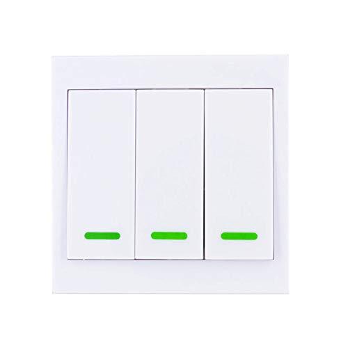 Funk Wandsender 86 Wand Panel Fernbedienung 433Mhz 3 Taste Sticky RF TX Smart Home Wohnzimmer Schlafzimmer Wireless Remote