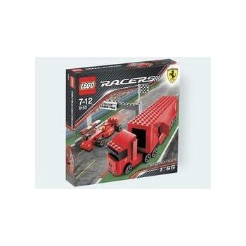lego racers jeu de construction le camion de l 39 curie f1 ferrari jeux et jouets. Black Bedroom Furniture Sets. Home Design Ideas