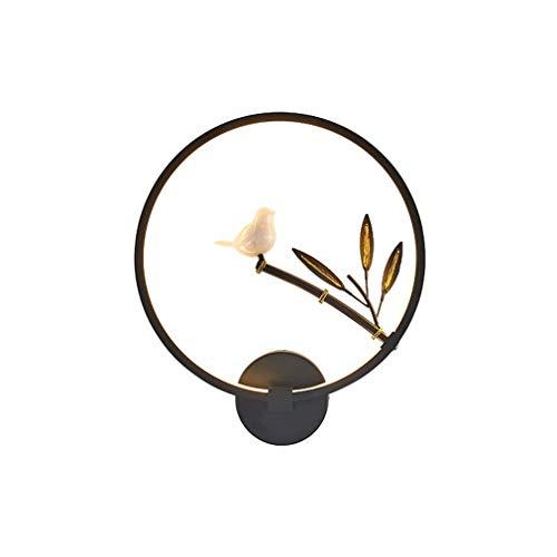 Moderne De Applique Lampe Led Chevet Créatif Anneau Minimaliste Éclairage En Spa Métal Murale 17 Acrylique W Salon Chambre CoexBd