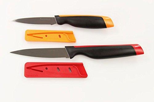 TUPPERWARE Xpert Messer Universal-Serie Gemüsemesser orange + Universalmesser rot 30438