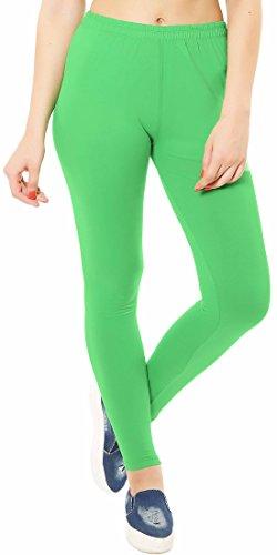 RT buik womens soft cotton ankle length leggings_Kiwi Green_(X-Large)