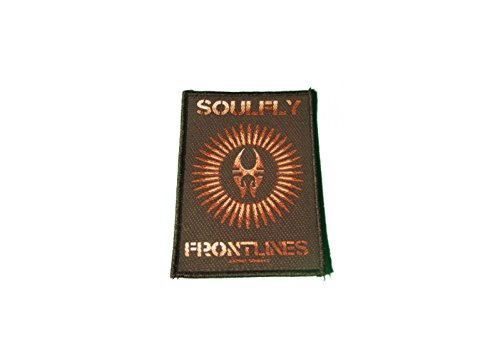 Preisvergleich Produktbild Soulfly Aufnäher - Frontlines - Soulfly Patch - Gewebt & Lizenziert !!