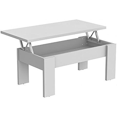Hogar24.es Mesa de centro elevable ASB color blanco