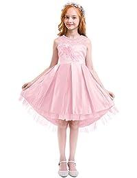 Vestito Ragazza Elegante Fiore Bambina Principessa Abiti per Festa di  Carnevale Comunione Cerimonia Damigella d  494e5413502