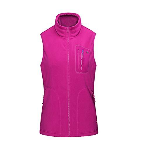 Comcrib Damen Fleece Weste Warme Weste Outdoor Atmungsaktiv Outdoor Sport Gilet Sweater Front Zip Weste Bergweste Frühling Herbst Winter -