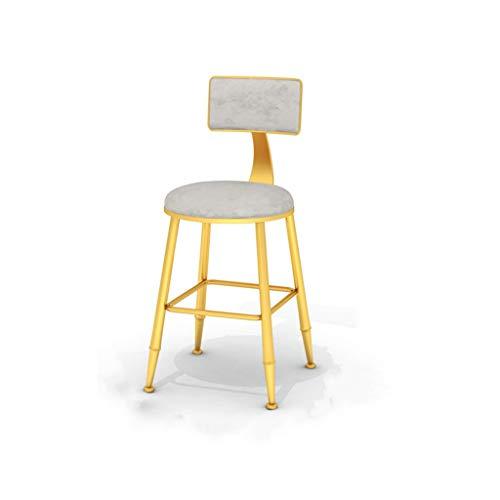 Grau Barhocker Metall Frühstückshochstuhl Geeignet für Familienküche Bar im Freien Esstisch Stühle Rückenlehne Trittbrett Barhocker (Sitzhöhe 45/65 / 75cm) Hochstuhl -