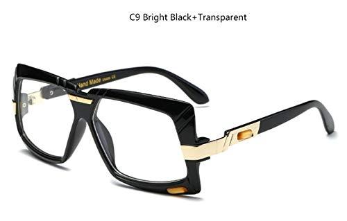 NNGETUI Heiße Übergroße Quadratische Sonnenbrille-Frauen Nagelneues Designer-Großes Rahmen-Sonnenbrille-Steigungs-Farbton-Mädchen