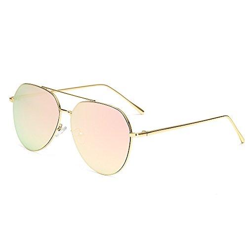 Dilunsizrf Männer und Frauen HD Fahren Sonnenbrille Mode Metall Sonnenbrille (Geschenk Brillenetui Spiegel Tuch Label Brillen Tasche),C3