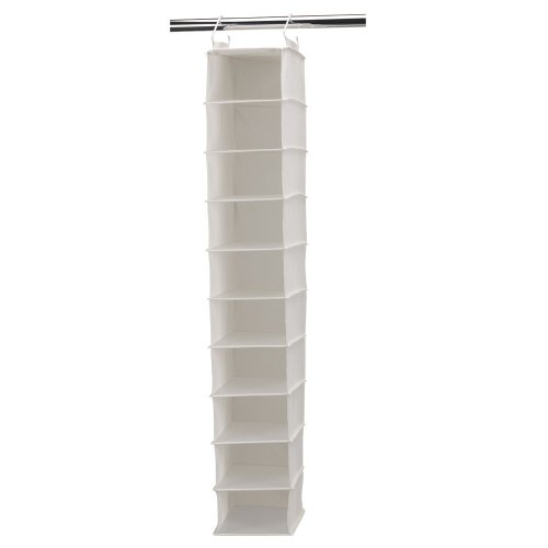 Haushalt Essentials Lagerung Organizer, canvas, beige, 10-Pocket Wide (Pocket Shoe 10)