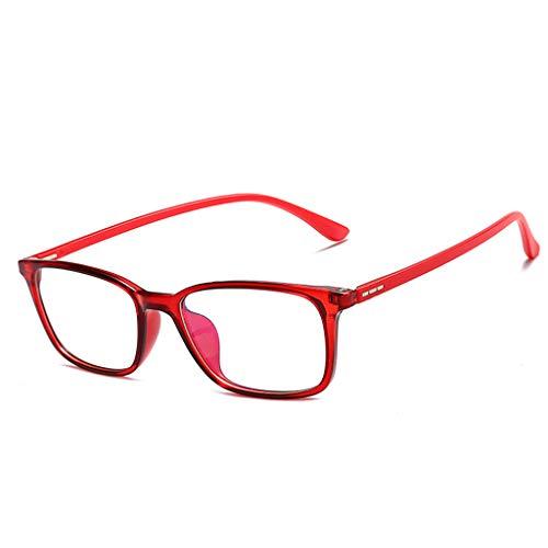 Lifet Frauen/Männer Lesebrille Lesehilfe Brillen TR90 Frame Anti-Blu-Ray Computer Dioptrien von +1.00-4.00 (+ 1,00, Rot) - Stilvolle Blu-ray