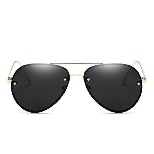 Stilvolle polarisierte Sonnenbrille Sonnenbrille Großhandel Europa und den Vereinigten Staaten Trend Visier Spiegel Persönlichkeit Pilot Sonnenbrille Sonnenbrille marine Sonnenbrille Fahrerschutz fü