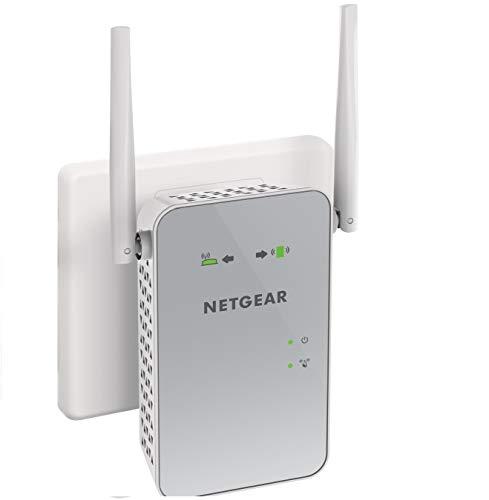 Netgear ex6150 ripetitore wifi wireless, copertura per 2-3 stanze e 10 dispositivi, 1200 mbps, wifi extender e access point