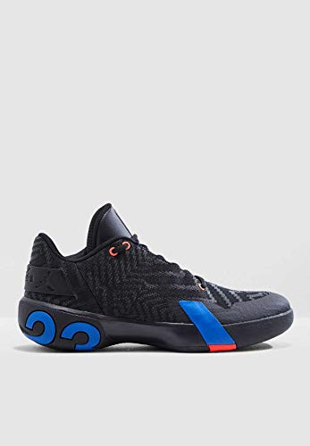 Nike Herren Jordan Ultra Fly 3 Low Basketballschuhe, Mehrfarbig (Black/Pacific Blue/Bright Crimson 004), 44 EU - Männer Schuhe Jordan