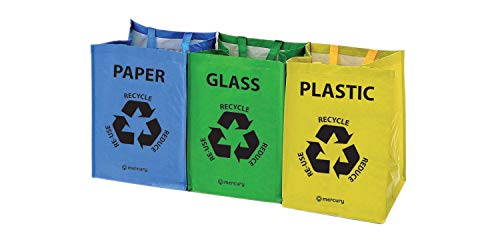 Mercury | Bolsas reciclaje resistentes asas | Juego