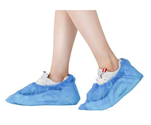 Couvre-chaussure en plastique jetable, housse de chaussure imperméable pour le ménage (100 pièces), F2