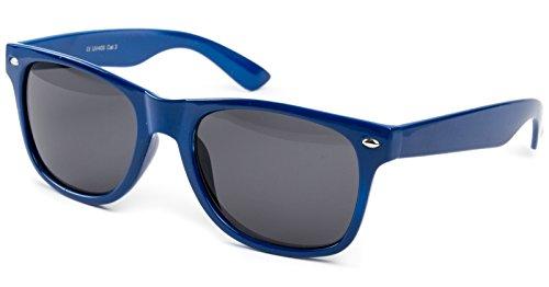 Ciffre Sonnenbrille Nerd Atzen Nerdbrille Pilotenbrille Brille UNISEX RETRO Dunkel Blau