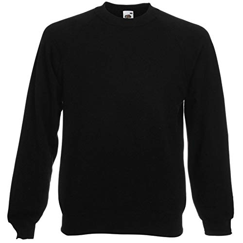 Fruit of the Loom - Sweatshirt 'Raglan Sweat' S,Black