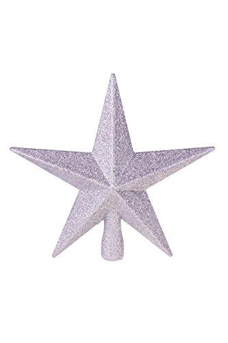 Clever Creations - Weihnachtsbaumspitze - glitzernder Stern - Festliche Weihnachtsdeko - bruchsicherer Kunststoff - für Weihnachtsbäume jeder Größe - Silberfarben - 20,3 cm