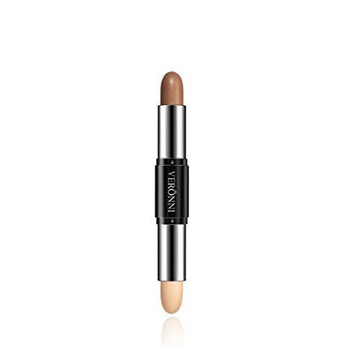 IGEMY 4 Farbe Make-up Creme, Gesicht Auge Foundation Concealer Highlight & Contour Doppelkopf Stift (D) (Concealer Stift Creme)