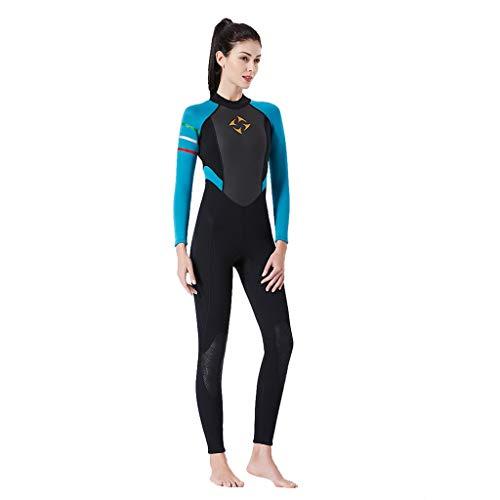 QIMANZI Modest Swimwear Taucheranzug Damen Herren Mädchen UV Schutzkleidung Sunsuit Ganzkörperansicht Badeanzug Overall Watersport(Blau,XL)