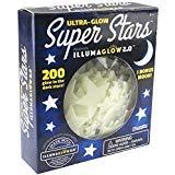Over The Moon Unltd. Ultra Glow In The Dark Stars; 200 Count W/ Bonus Moon