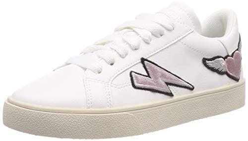 ESPRIT Damen Cherry Heart LU Sneaker Weiß (White 100) 38 EU