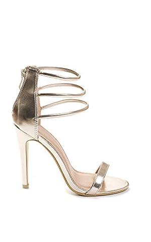 Women's Ladies Stunning Glam Party Strap Stiletto High Heels