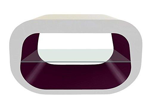 Zeitgenössische Oval Glas (Zespoke Design Die Squoval Square Oval TV-Ständer in Weiß mit Verschiedenen Farben)