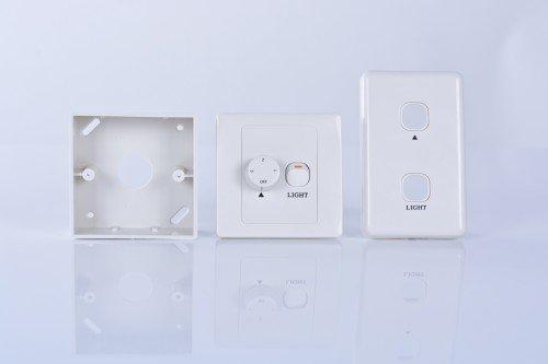Interruptor de pared para ventilador de techo con luz, incluye 2paneles