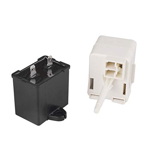 DEtrade Kühlschrank Starten Sie Relais Kompressor Startrelais & Kondensator Für Whirlpool Maytag W10613606 (A)