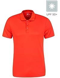 d577482442801 Mountain Warehouse Tournament IsoCool Mens Polo - Lightweight Summer T Shirt
