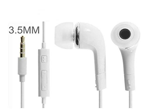 SOAR MART in Ear Headphone for Samsung Galaxy Tab T-Mobile T849 in The Earphone/Handfree with Mic / 3.5mm Jack and Like Performance with Superior Sound Quality Earphones - White Image 4