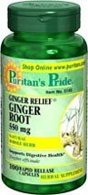 Ginger Root 550 mg 100 Capsules