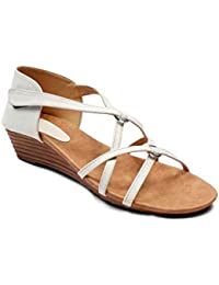 Meriggiare Women Synthetic White Wedges