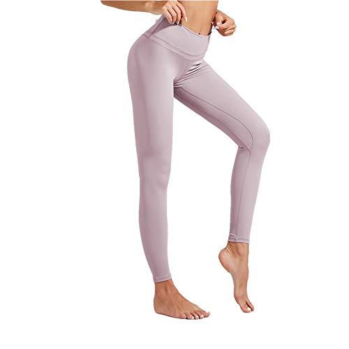 Discount Boutique Frauen einfarbig Yoga Hosen Bauch steuert neun Punkt Fitness Hosen High Waist Running Leggings