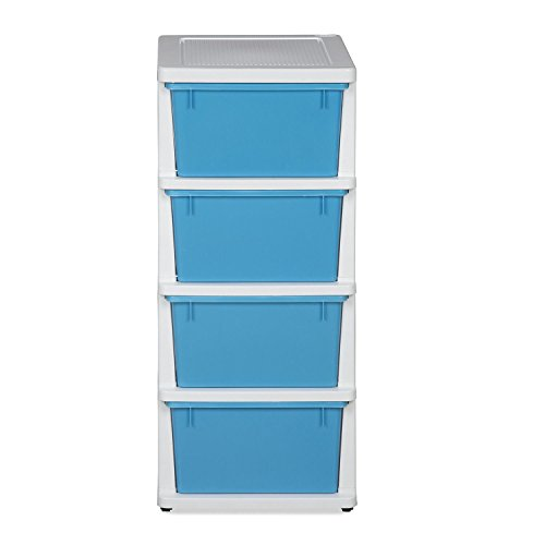 @home by Nilkamal Series-24 Chest of Drawers (Cream Transparent Blue)