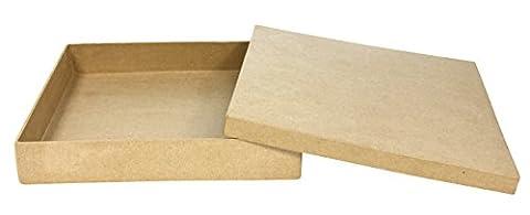Décopatch - BT016O - Loisir créatif - Boîte Carrée, 21 x 21 x 3,5 cm