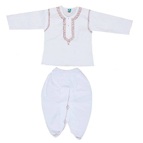 MY NEWBORN Baby Boys' White Kurta Dhoti Set (3-6 months)