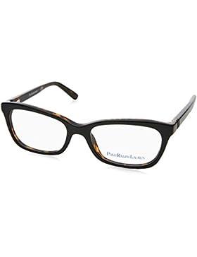 Polo Ralph Lauren 0PP8527, Monturas de Gafas para Mujer, Black Tortoise, 47