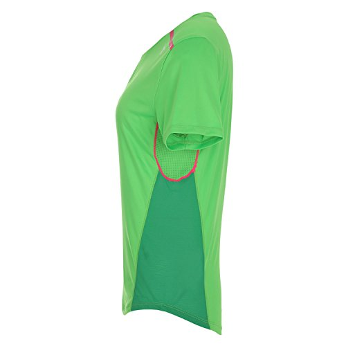 Diadora L.T-Shirt Top SS Shirt Running–Damen Grün Neon