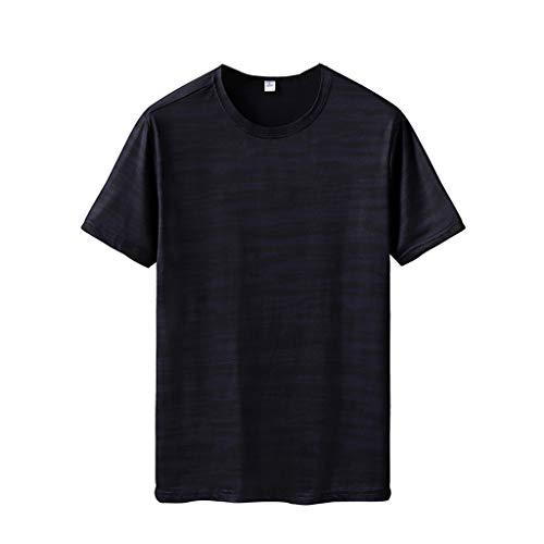 Aeropostale Rock (Aoogo Mens Sommer Rundhalsstreifen Drucken T-Shirt Fitness Sport Atmungsaktive Schnell Trocknender Kleidung Top Bluse)